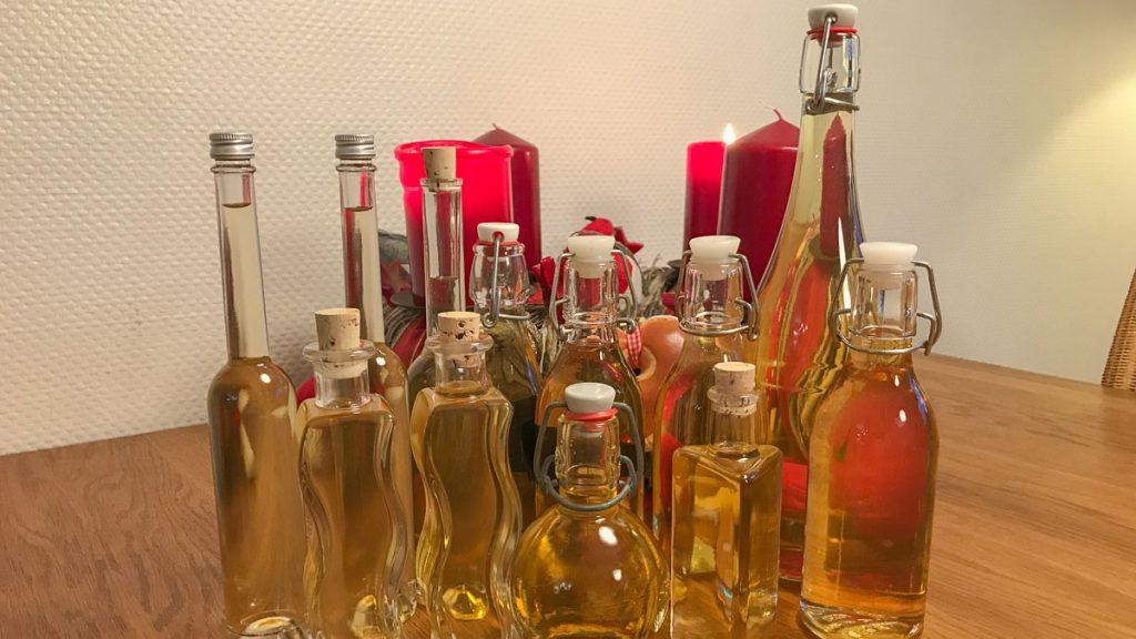 gefilterter Bärenfang in Flaschen