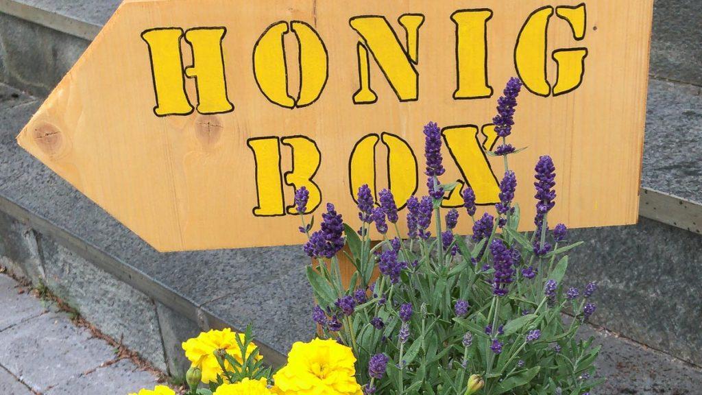 Schild für Honigbox